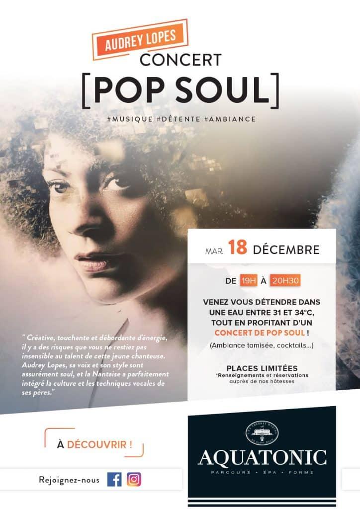 Concert a l'aquatonic de Nantes: Audrey Lopes