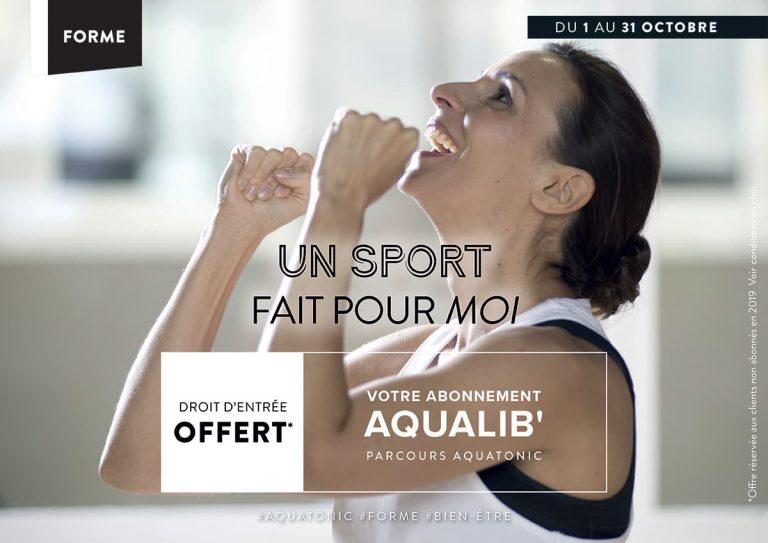 Abonnement Aqualib : droit d'entrée offert !