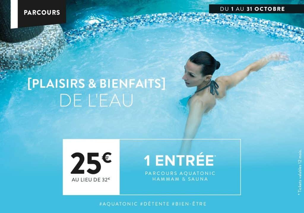 Aquatonic : 1 entrée à 25€ au lieu de 32€