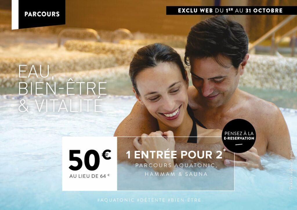 Promo Aquatonic à nantes : 50€ pour 2