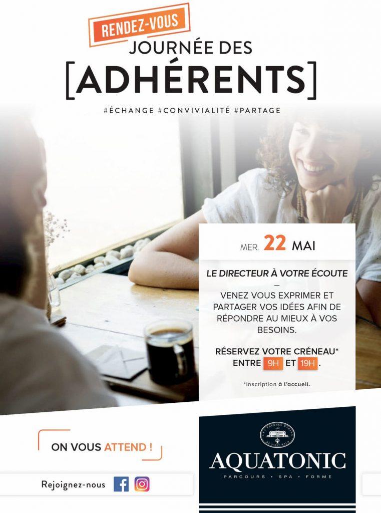 Journée des adhérents à l'Aquatonic Paris