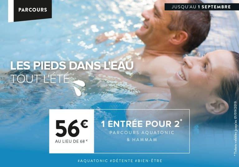 Promo Aquatonic Paris Val d'europe : 1 entrée pour 2 à 56€