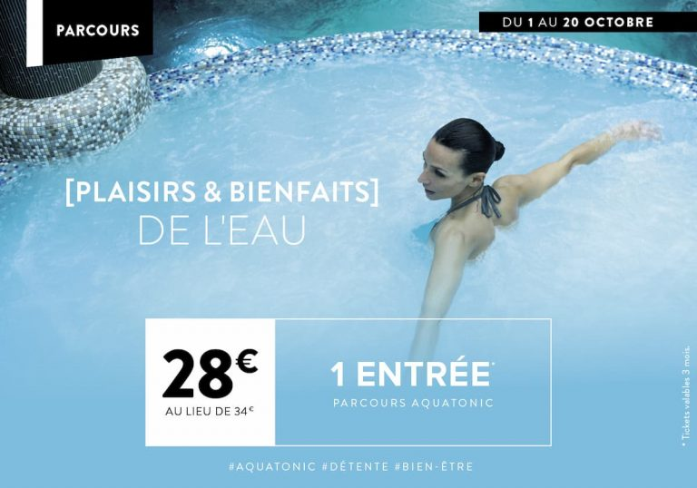 Offre Aquatonic : 28€ au lieu de 34€