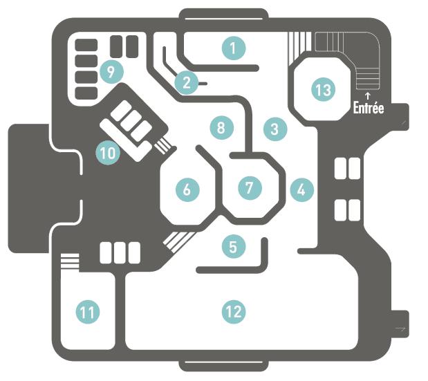 Plan du parcours Aquatonic