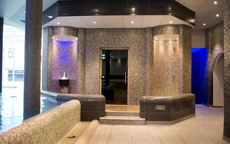 hammam, sauna et fontaine à glace