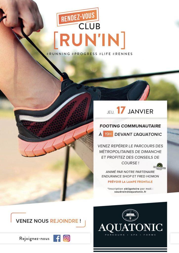 Club Run in Aquatonic à Rennes