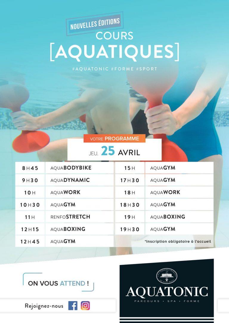 Nouvelle edition des cours Aquatique