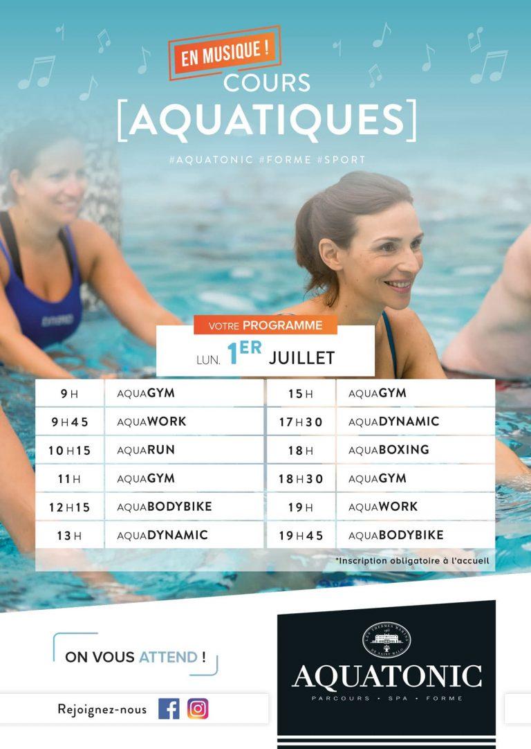 Cours Aquatique à Rennes le 1er Juillet