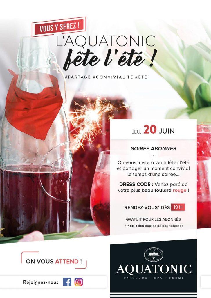 Soirée Cocktail pour les abonnés le 20 juin