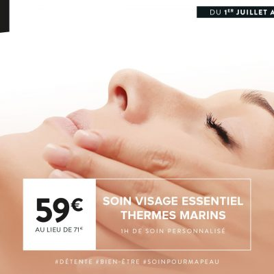 Soin Spa du Mois à Rennes : Le soin Visage Essentiel Thermes MArins