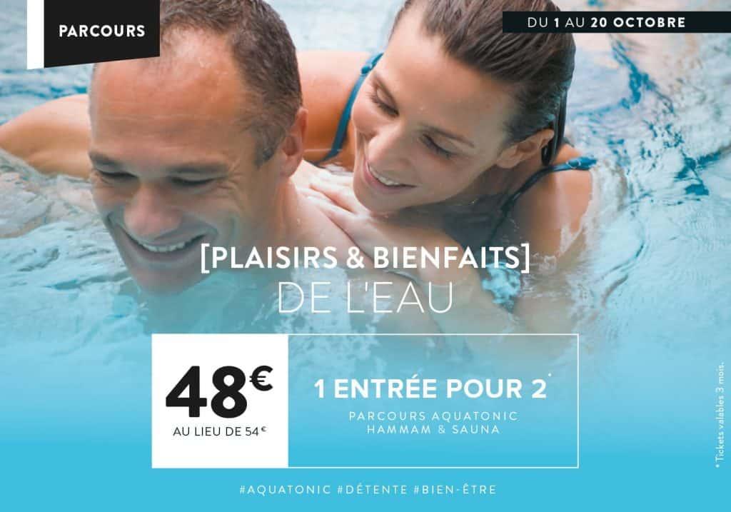 Offre Aquatonic : 2 place pour 48€ au lieu de 54€