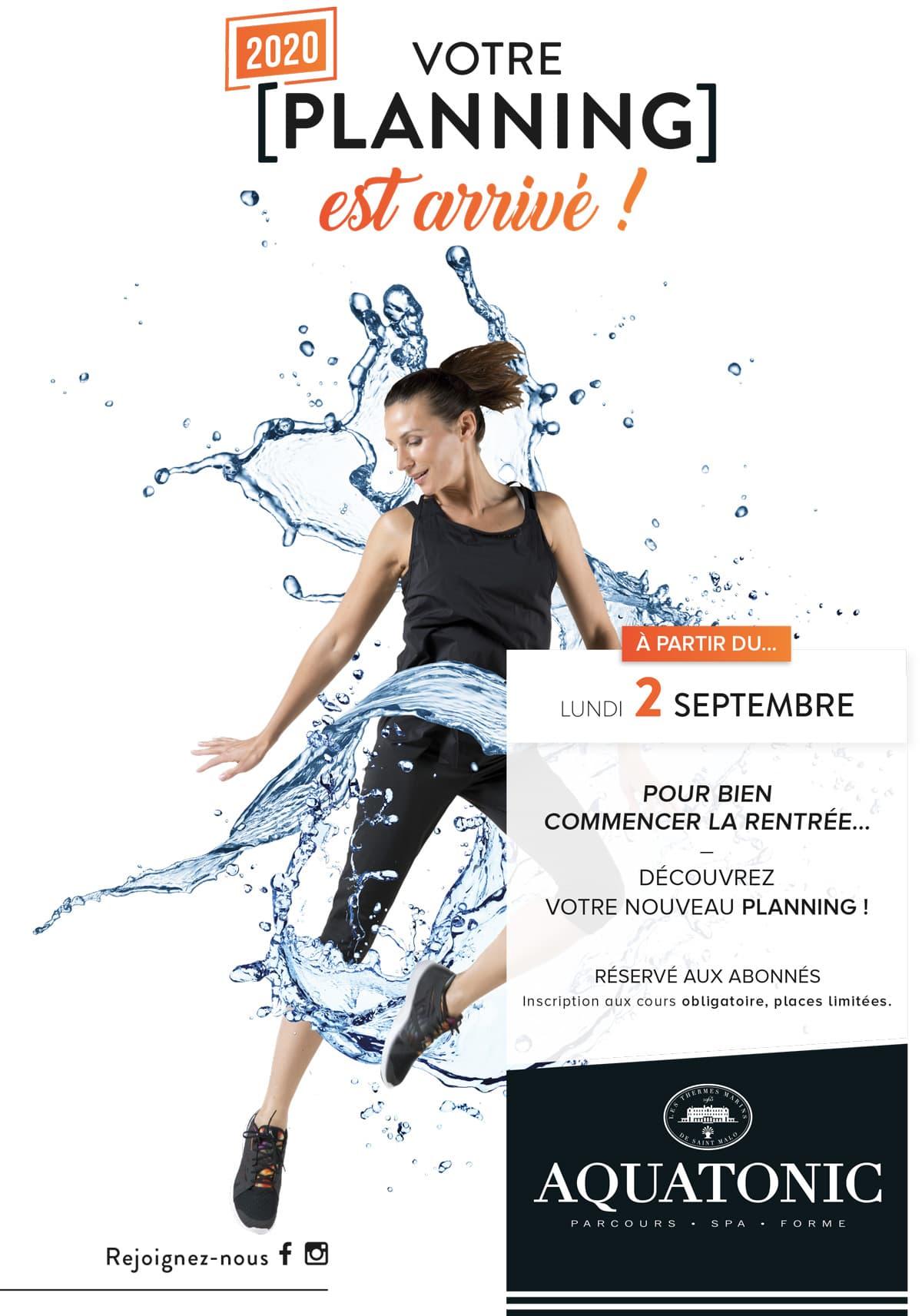 Aquatonic Rennes : planning de rentrée