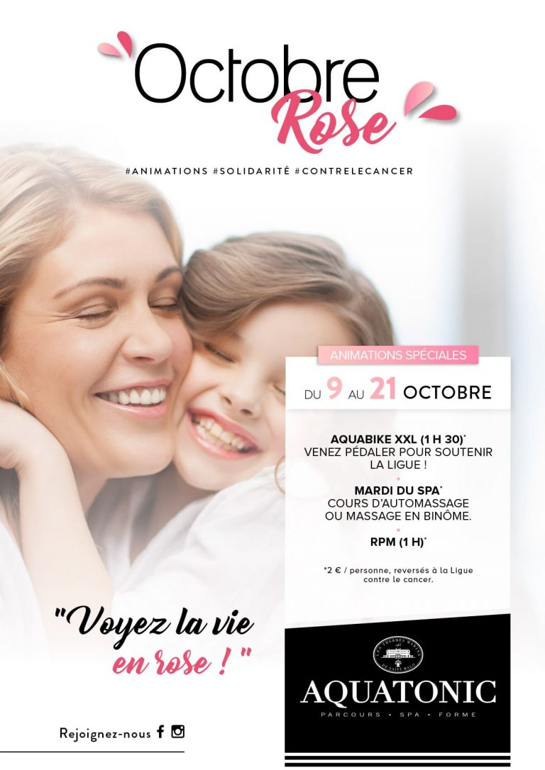 Octobre Rose du 9 au 21 octobre