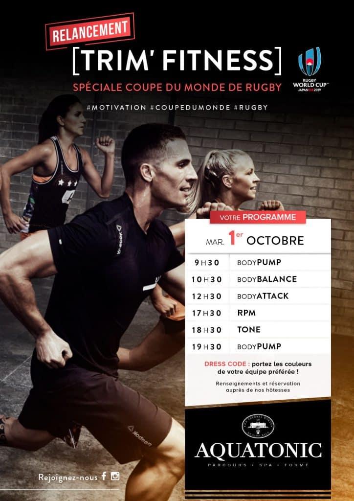 TRIM Fitness le 1er octobre : special Coupe du Monde de Rugby!