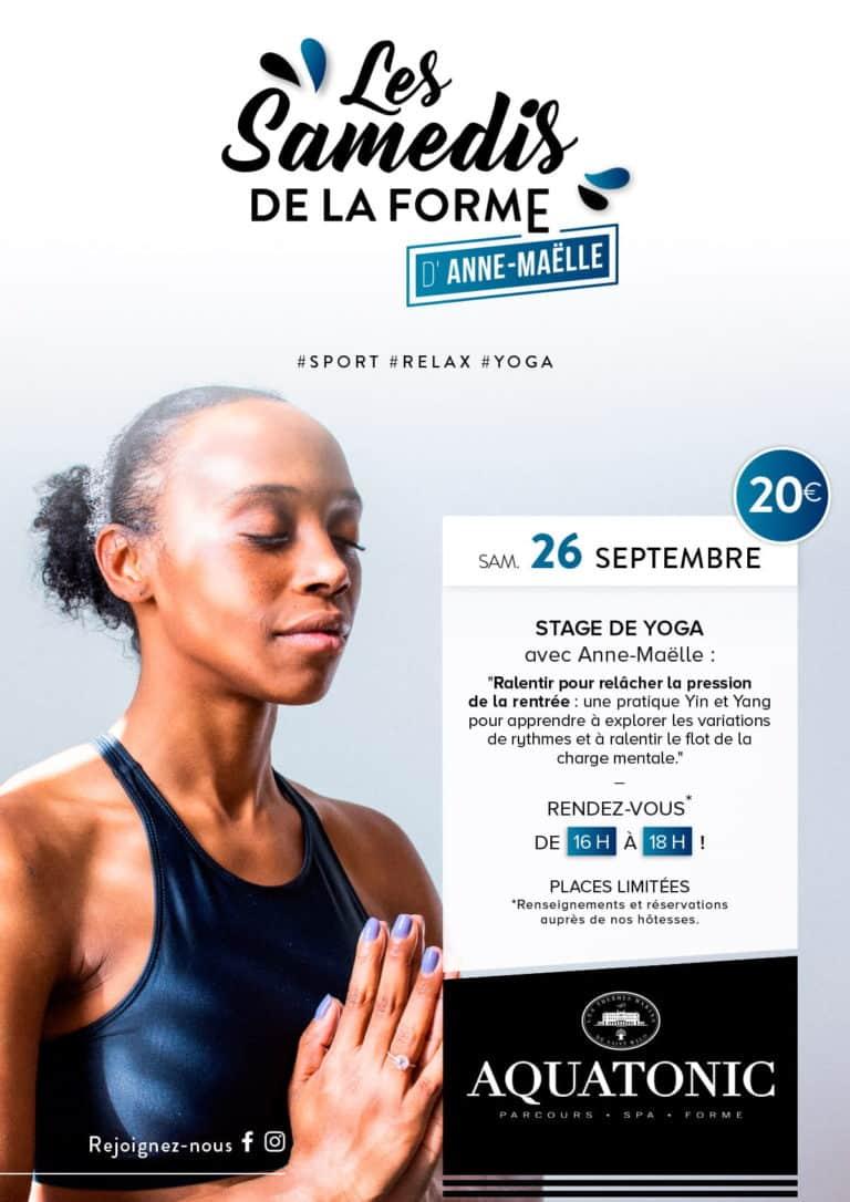 Stage de Yoga le 26 septembre