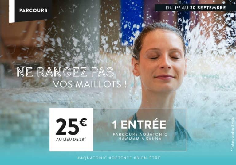 Offre aquatonic à Rennes : 1 entrée à 25€