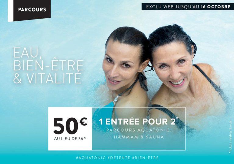 Aquatonic : 2 entrée à 50€ au lieu de 56