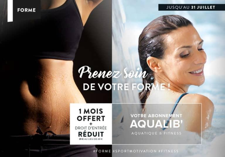 Votre abonnement Aqualib : 1 mois offert + droit d'entrée réduit