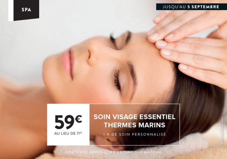 Soin du mois : soins visage essentiel Thermes Marins