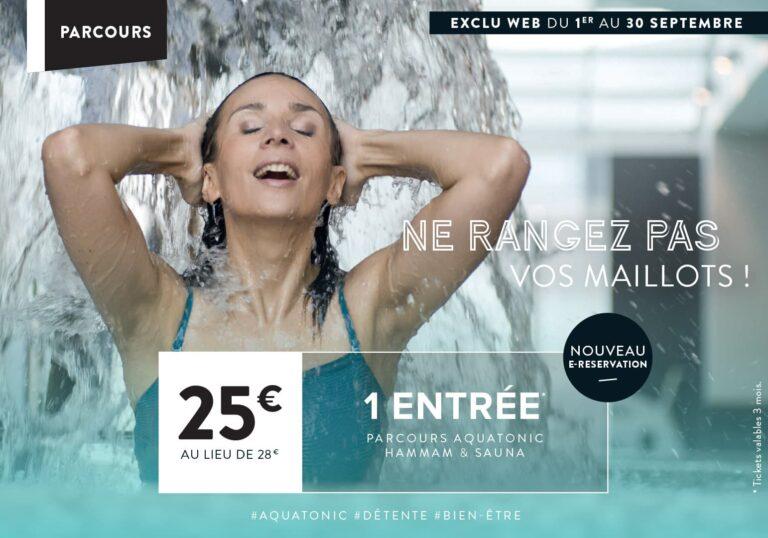 Offre Aquatonic à Rennes : 25€ au lieu de 28€ !