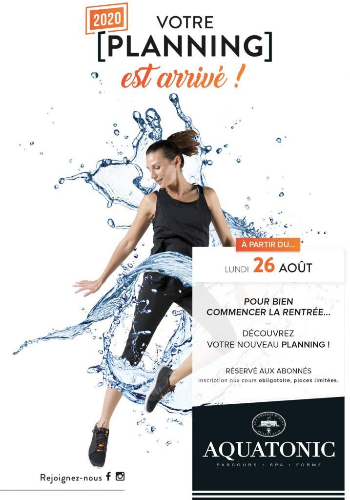 Nouveau PLaning des cours Sport a Nantes