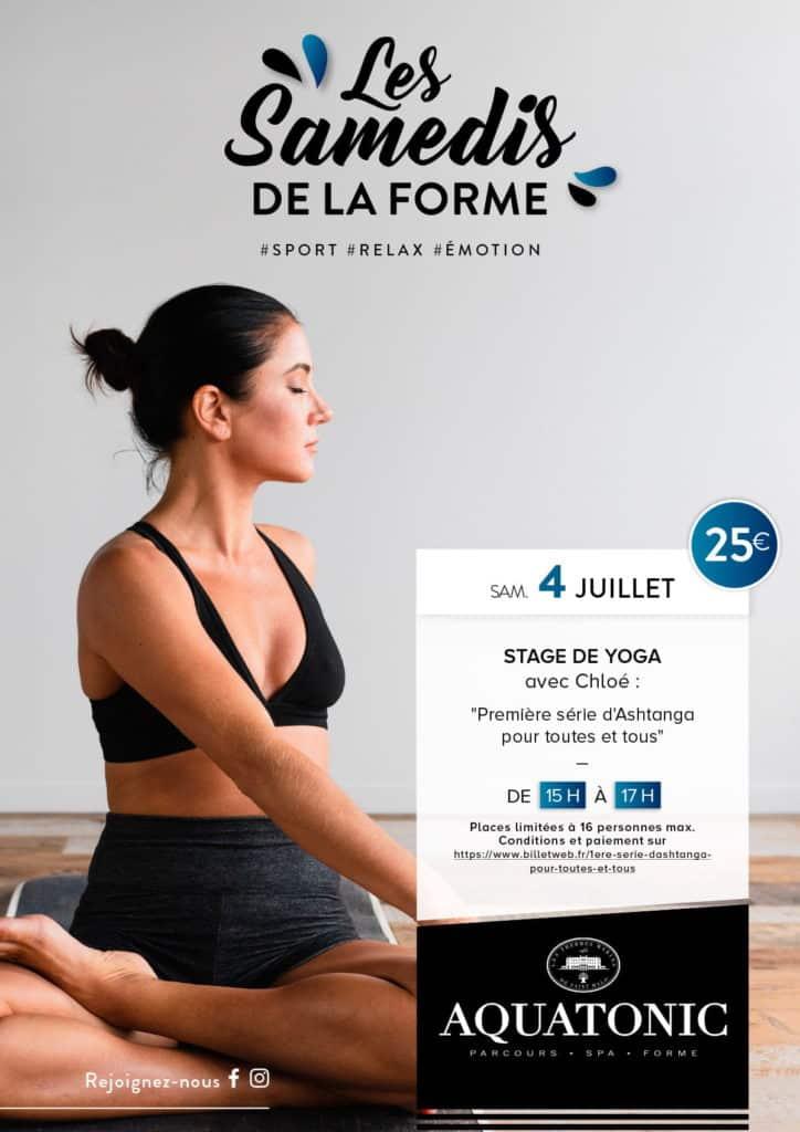 Stage de yoga a Nantes le 4 juillet