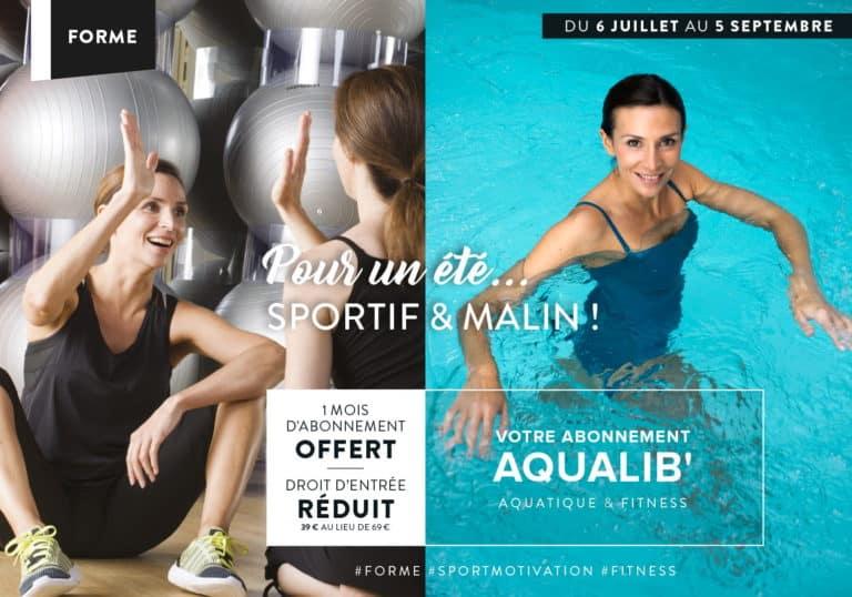 Offre abonnement Aqualib : 1 mois offert + droit d'entré réduit