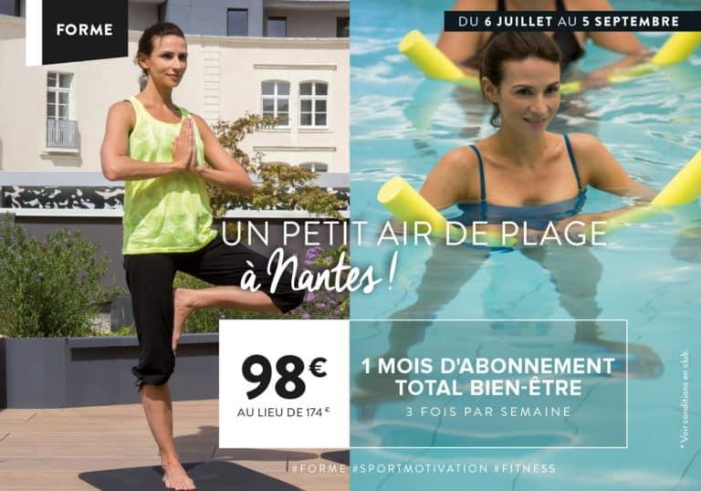 1 mois d'abonnement sport pour l'été à Nantes
