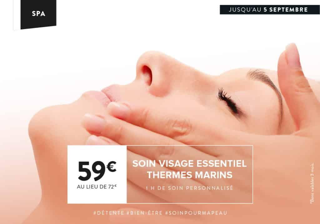 Le soin du mois : Soin visage essentiel Therme Marins