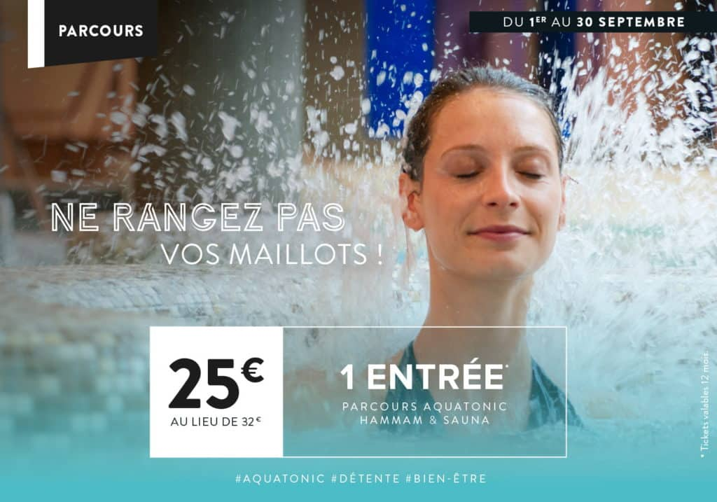Offre Aquatonic à Nantes : 1 entrée à 25€ au lieu de 32€
