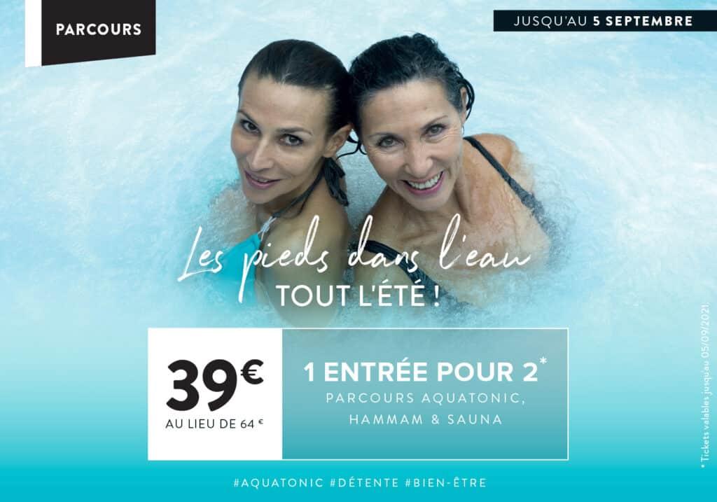 Promo Aquatonic à Nantes : 1 entrée pour 2 à 39€