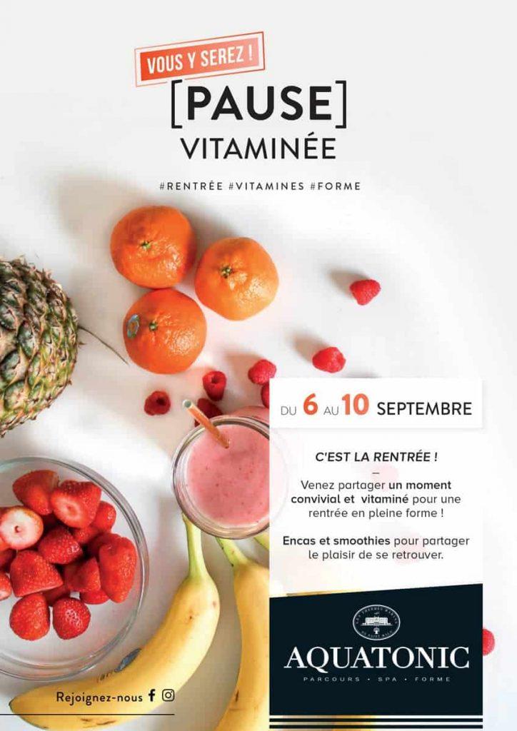 Pause vitaminé du 6 au 10 septembre à Nantes