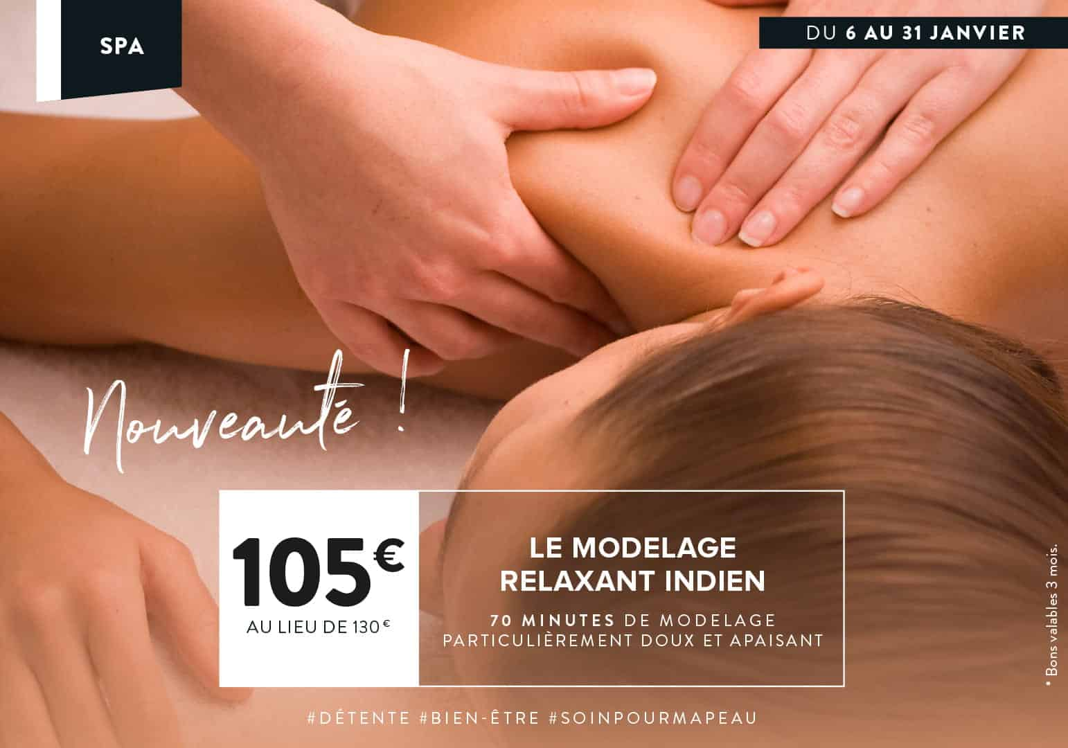 Nouveauté en promo : Modelage relaxanyt indien à Montevrain