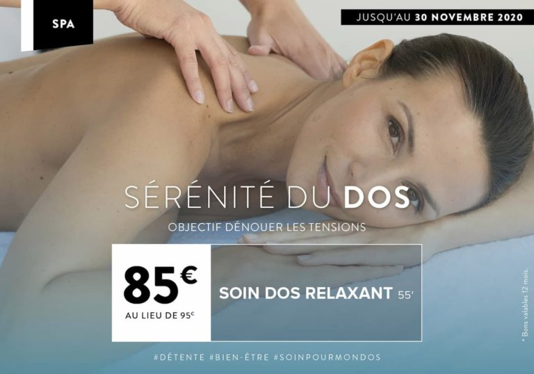 Soin Spa du mois à Montevrain : serenité du dos