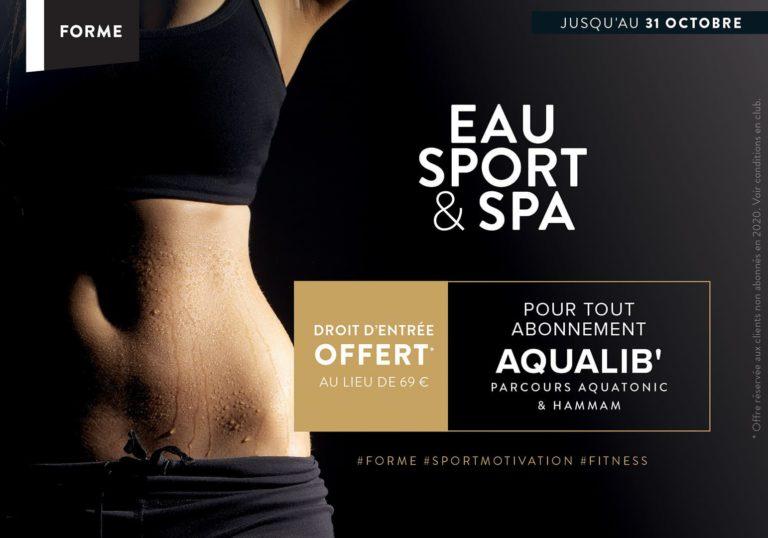Droit d'entrée Offert à Paris pour tout abonnement Aqualib