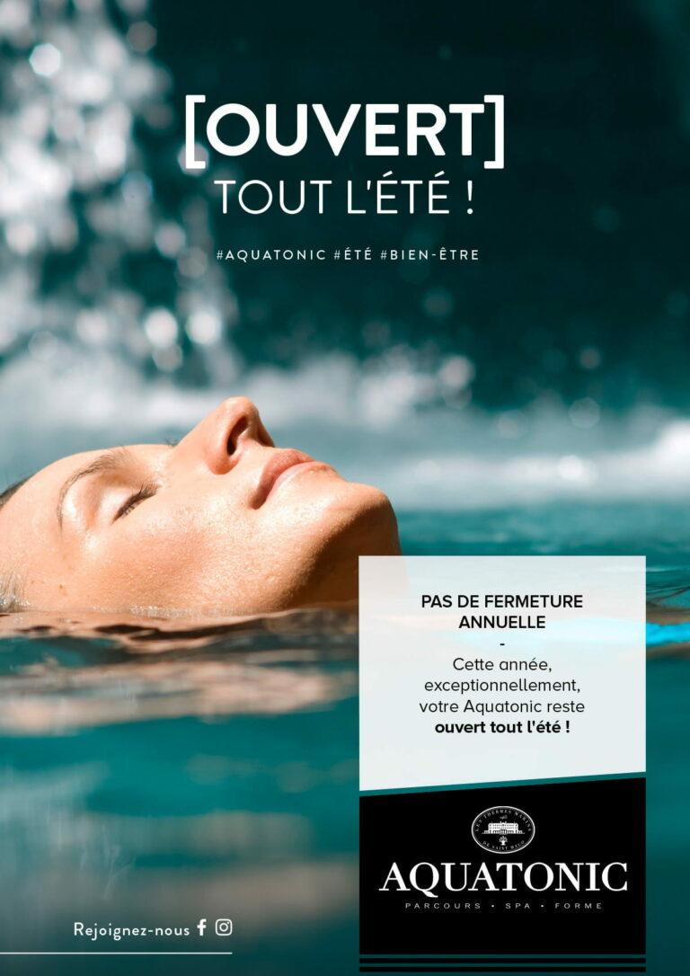 Aquatonic Paris ouvert tout l'été !