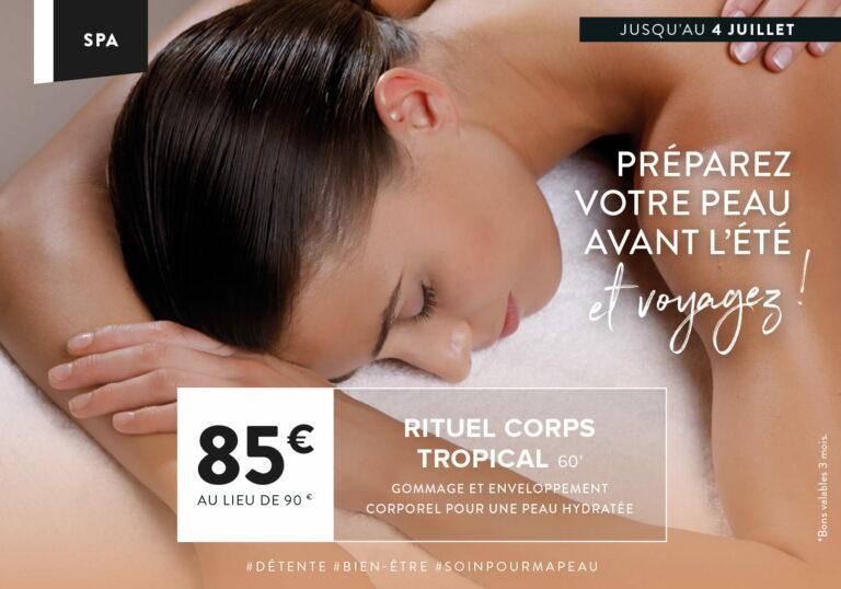 Le soin Spa du Mois à Montévrain : Le Rituel Coprts Tropical