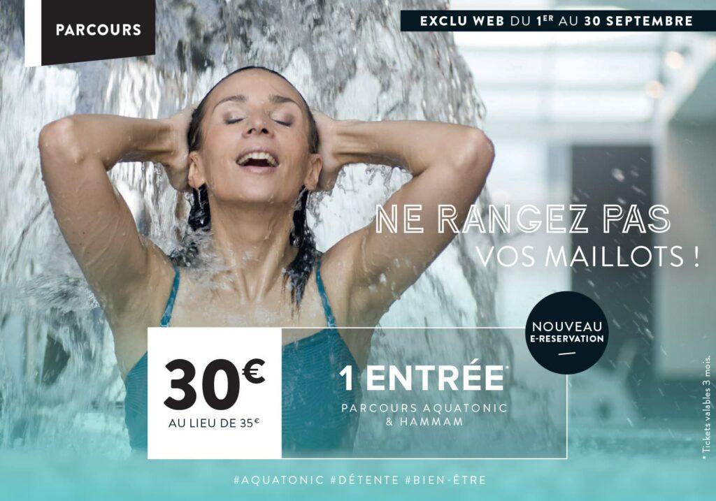 Promo Aquatonic a paris : 30€ eu lieux de 35€
