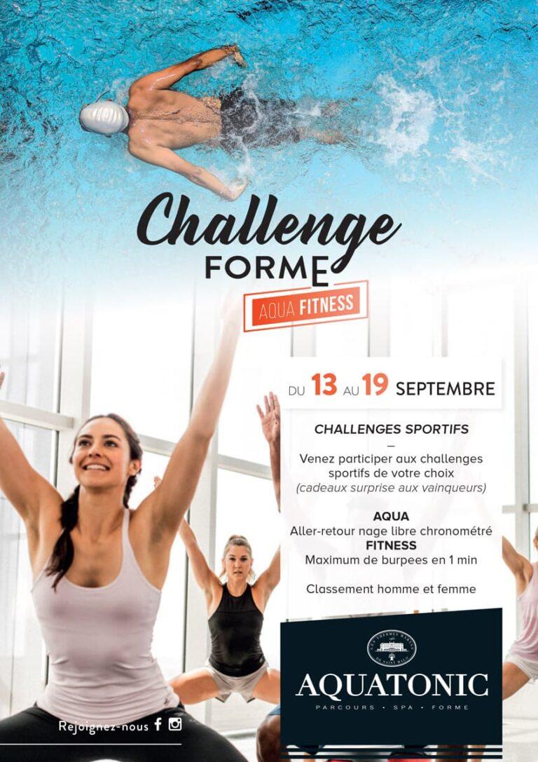Challenge Forme Aquafitness du 13 eu 19 septembre
