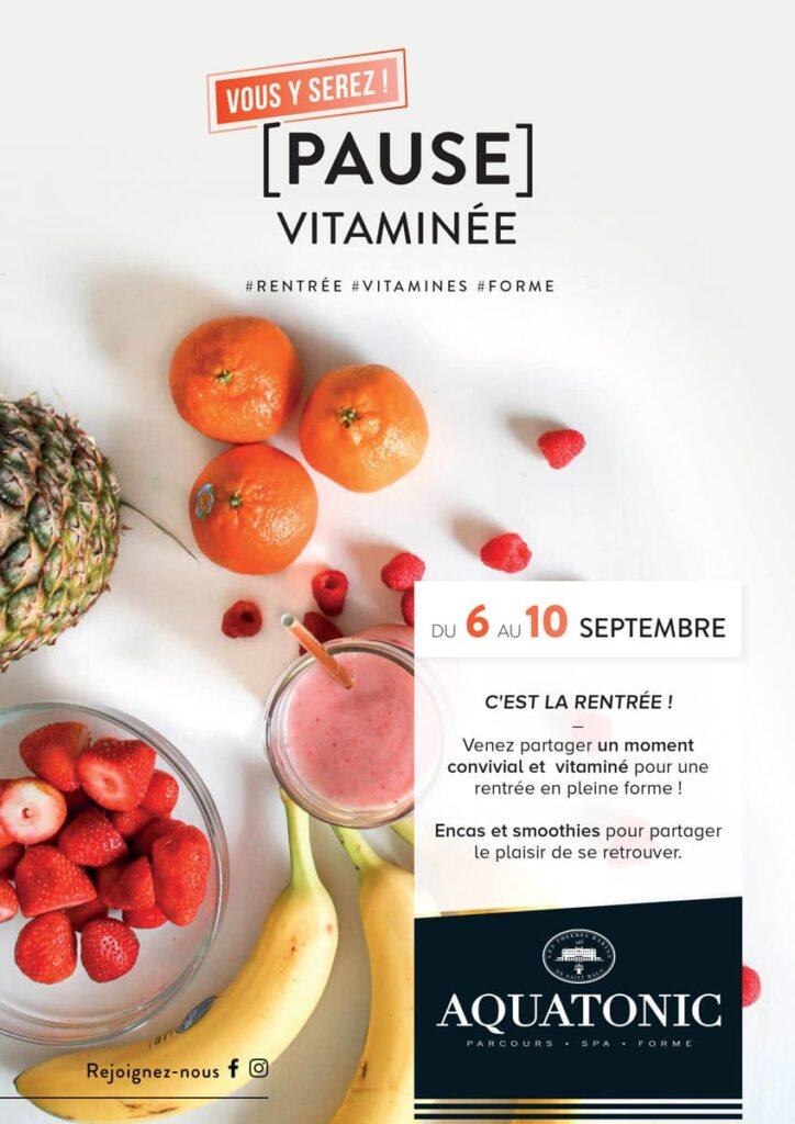 Pause vitaminé du 6 au 10 septembre à PAris