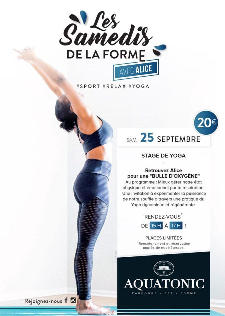 Stage de Yoga à Montevrain le 25 septembre